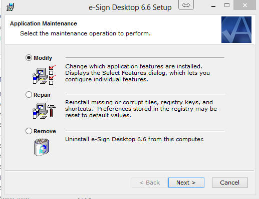e-Sign Desktop 6.6 Setup image